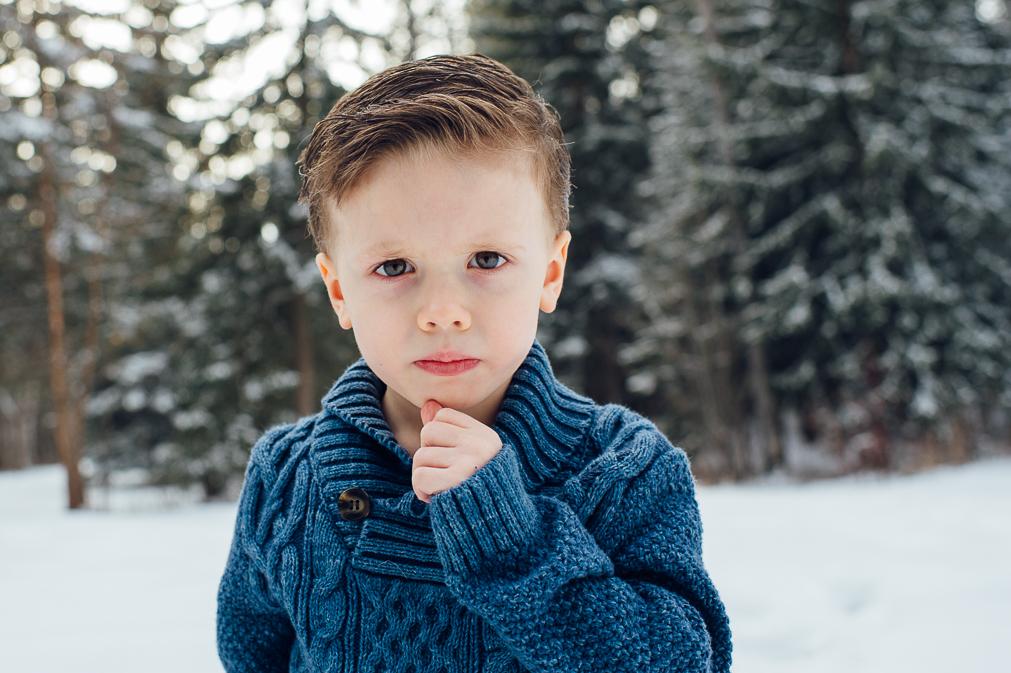 ring bearer in winter sweater