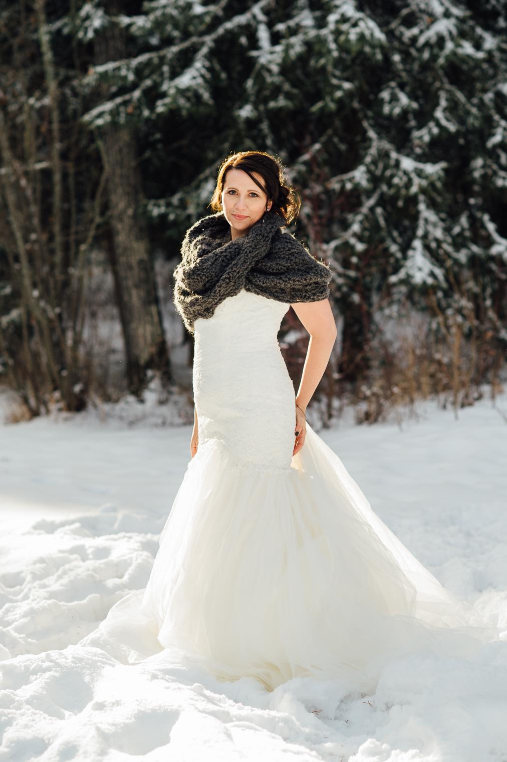 beautiful winter bride
