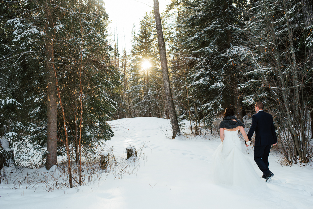 winter wedding in edmonton