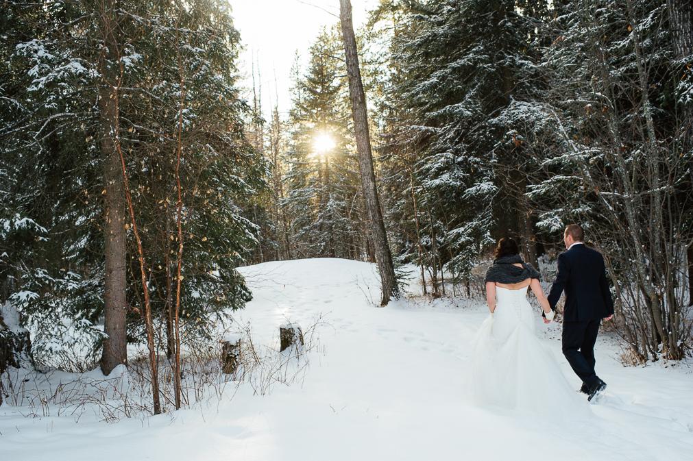 winter wedding in edmonton
