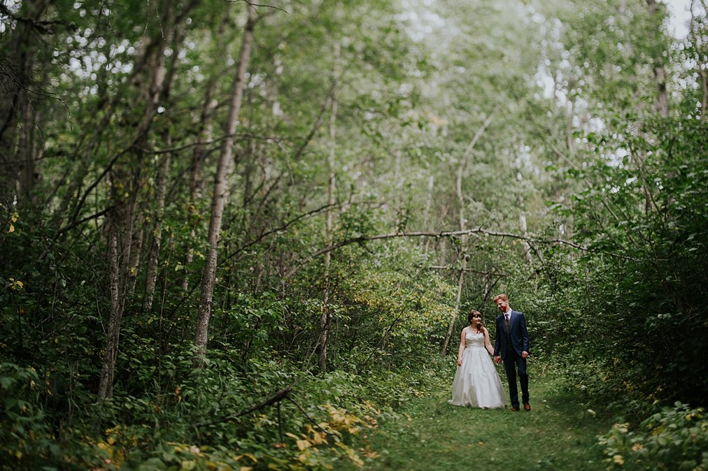tilt shift wedding photo