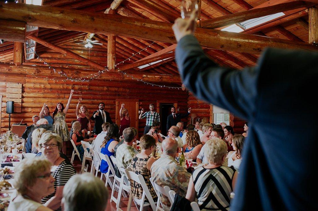 log cabin wedding speeches