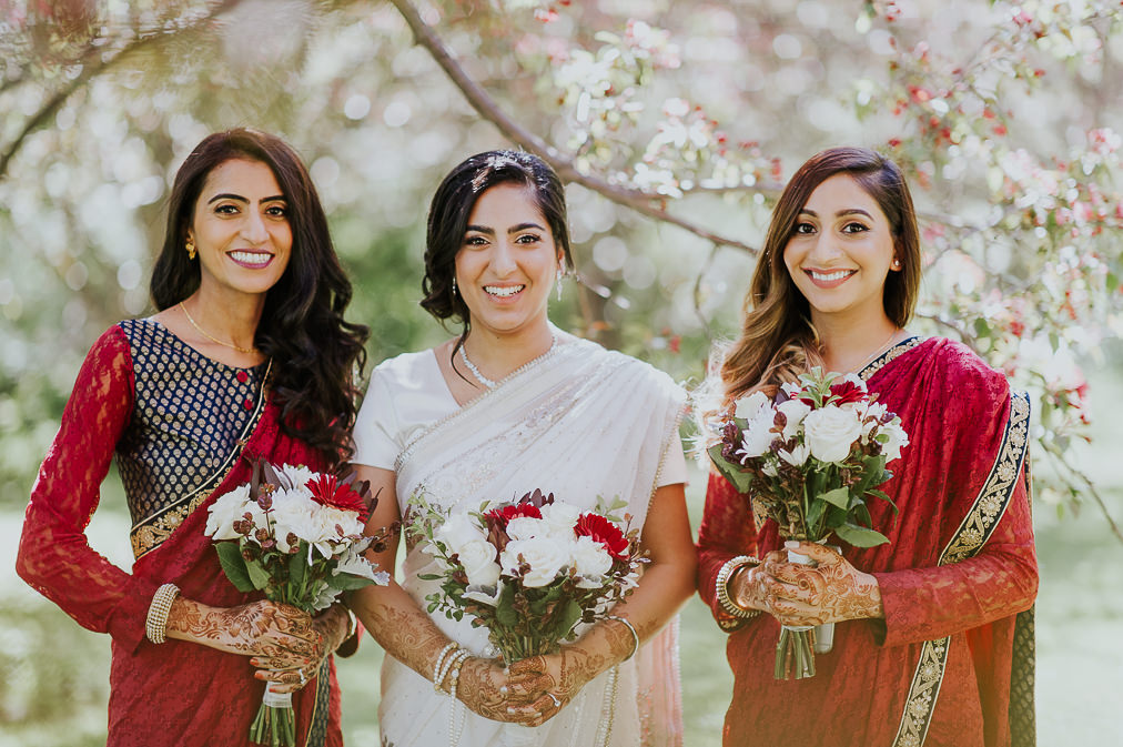 beautiful edmonton bride in sari