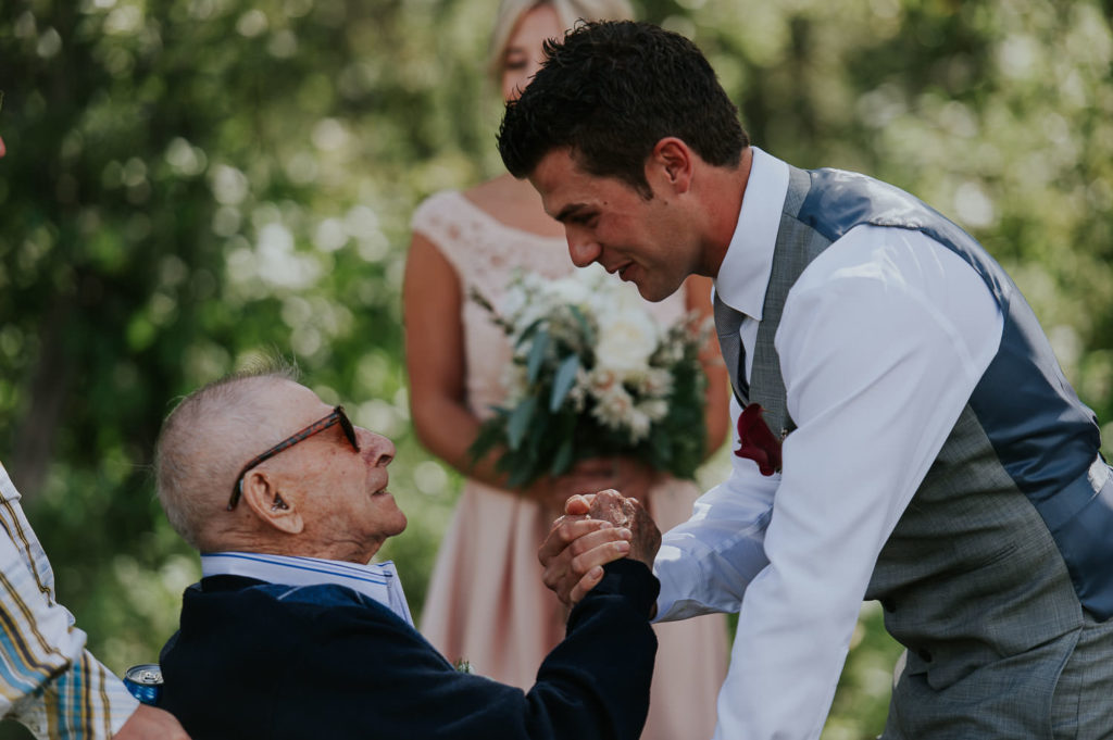 groom with grandfather