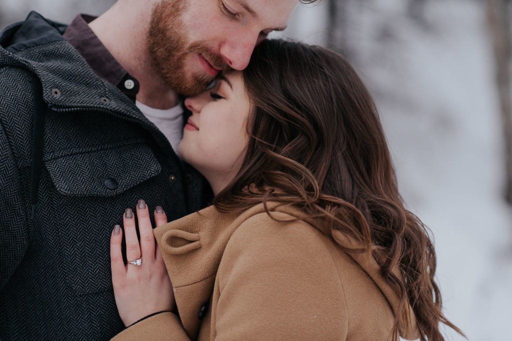 edmonton winter engagement session