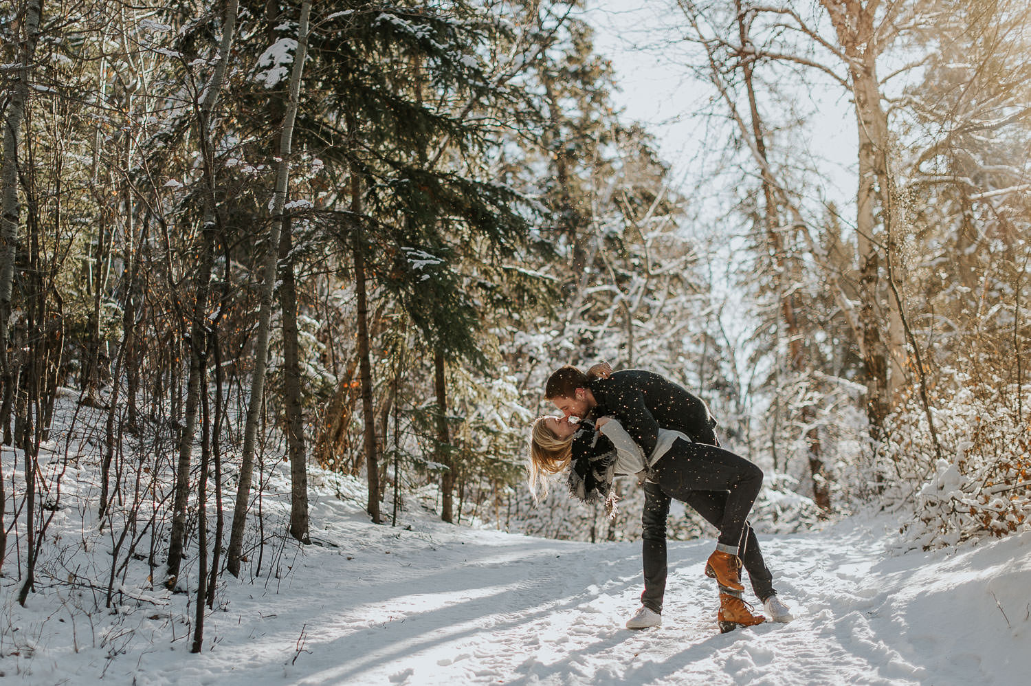 edmonton winter wedding photographer
