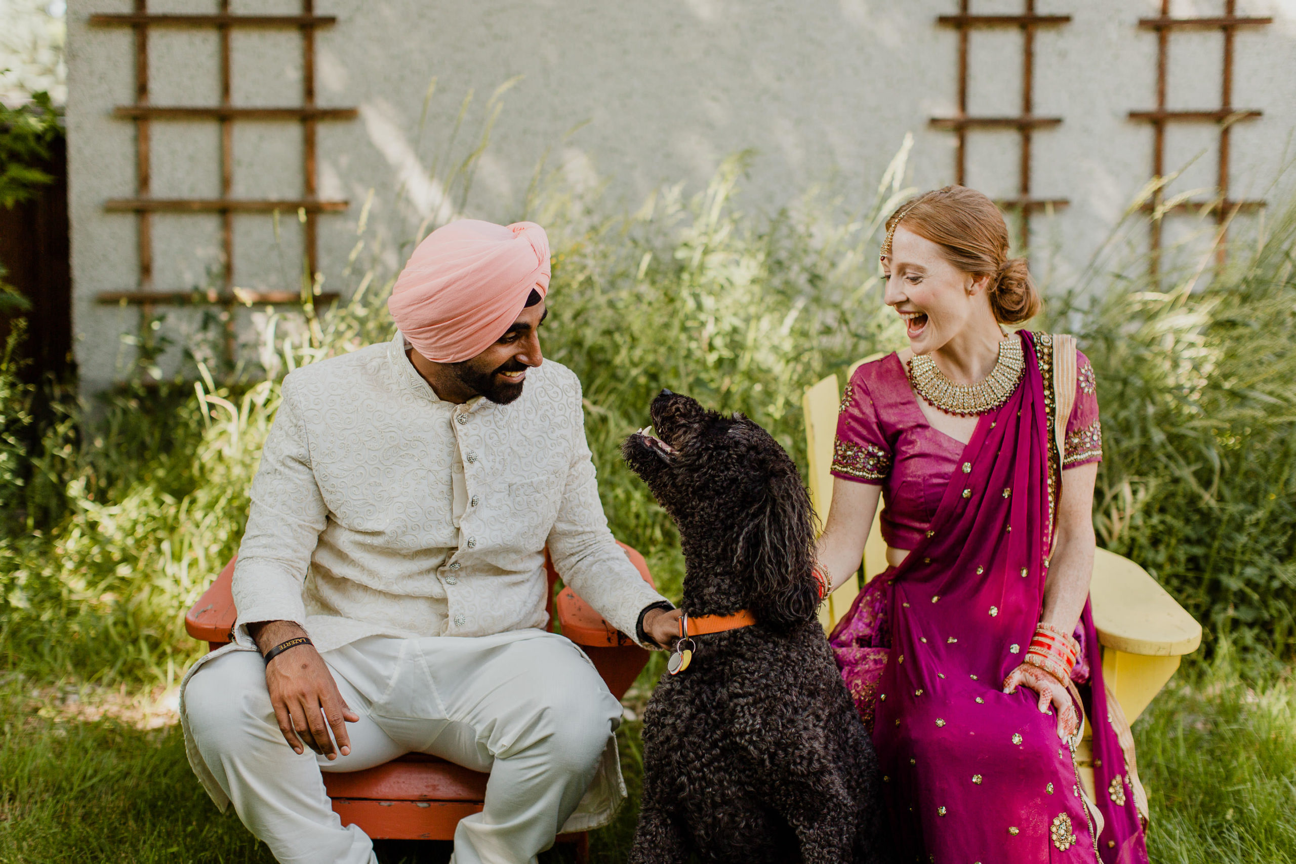 east indian wedding with dog